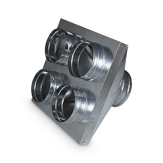 Reduzierkasten AA-Kaminwelt 1 x DN 160 mm / 4 x DN 125 mm