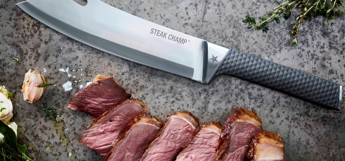 Steakchamp Chef's Knife BBQ Pro Anwendungsbeispiel