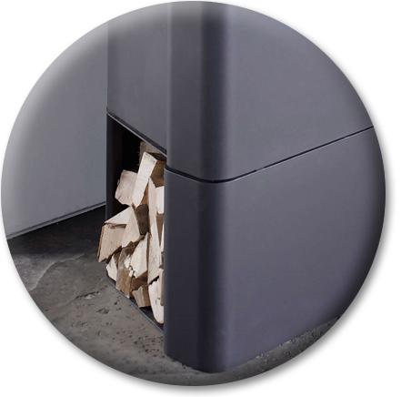 Produktdetailansicht mit Fokus auf das Holzfach