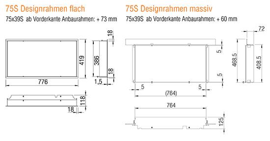 Kamineinsatz Austroflamm 75x39 S 2.0 Designrahmen