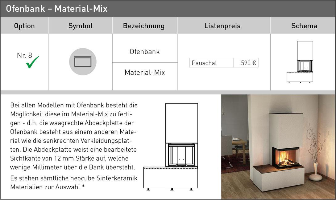 Ofenbank Materialmix