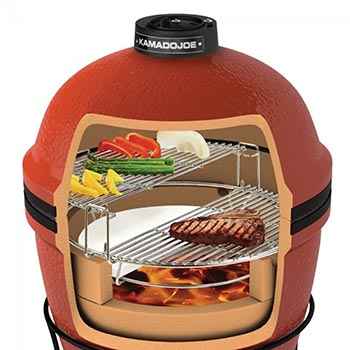 Keramikgrill Kamado Joe Junior™ Grafik Innenansicht