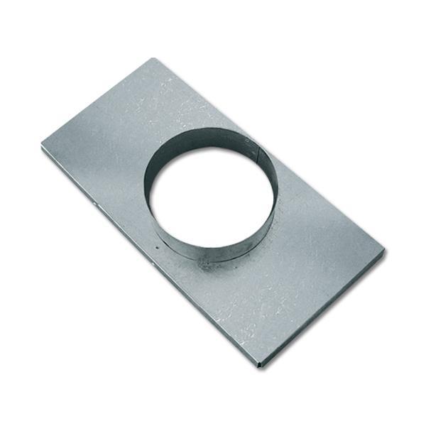 Stutzenblech für Warm Kalt und Außen Luftgitter 17x30 cm DN 125 mm