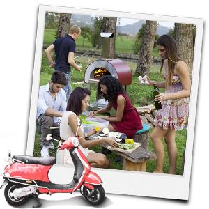 Picknick mit einem Alfa Forni Pizzaofen
