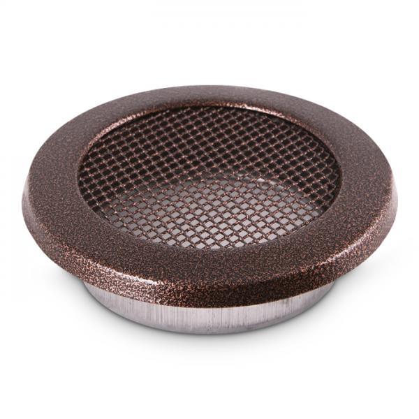 Kamin Lüftungsgitter rund 200 mm Ofen Gitter Kupfer Antik