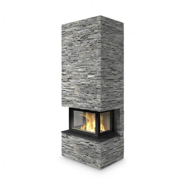Kaminbausatz Nordpeis Davos U High Stone 8,9 kW