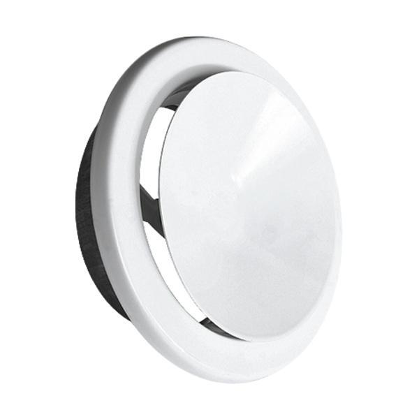 Anemostat AA-Kaminwelt Luftregulierung AN d 125 mm Weiß