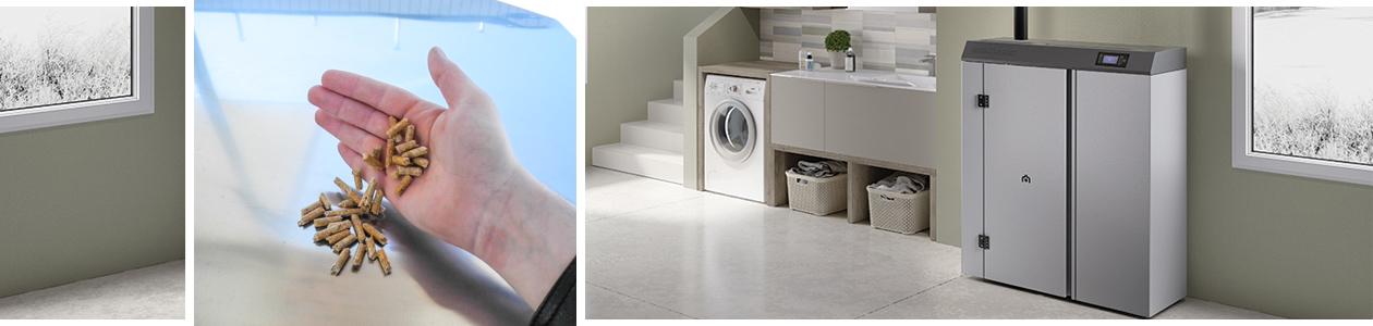Heizkessel von Edilkamin in Waschküchenambiente