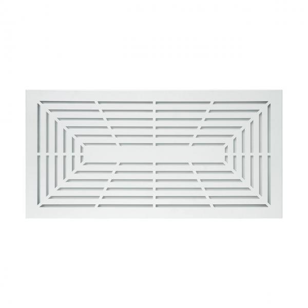 Lüftungsgitter CB-Tec Designgitter PB1 blickdicht Weiß