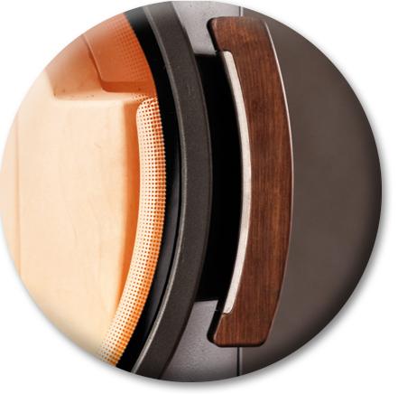 Produktdetailansicht mit Fokus auf Holzgriff