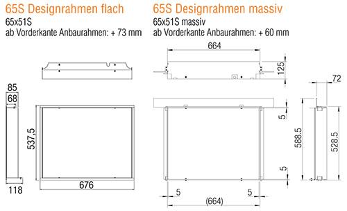 Kamineinsatz Austroflamm 65x51 S 2.0Designrahmen