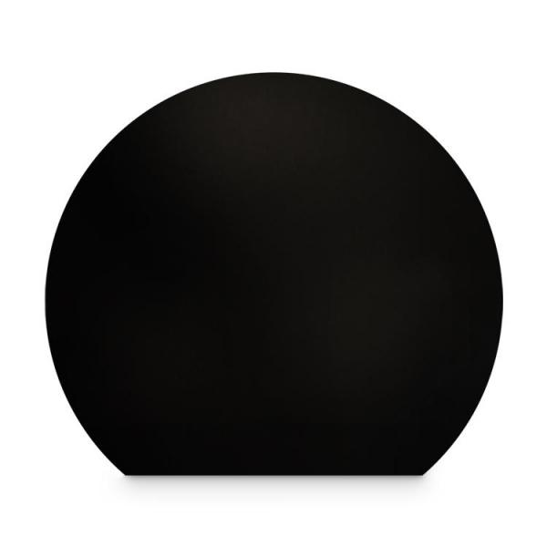 Stahl Bodenplatte Schwarz Kreisabschnitt Funkenschutz Platte Kamin