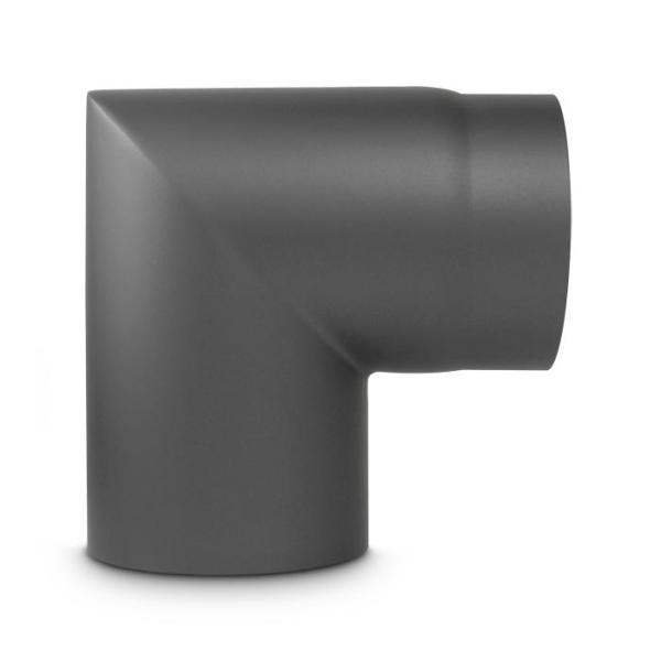 Ofenrohr Bogen geschliffen DN 120 mm 90° Gussgrau