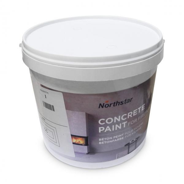 Nordpeis Betonfarbe für Kamine 2,1 kg