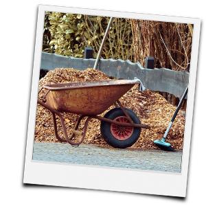 selbstgehäckselter Mulch