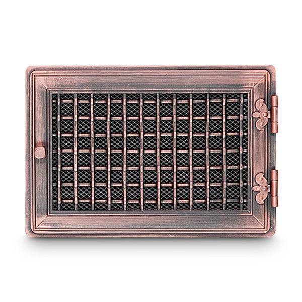 Stil Kamin Warmluftgitter 24 x 35 cm Kupfer Alt Ofen Gitter