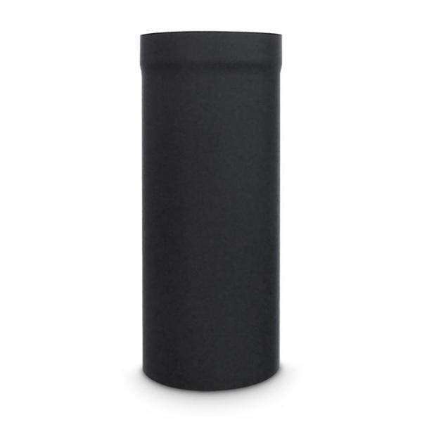 Ofenrohr DN 220 mm Länge 500 mm Schwarz