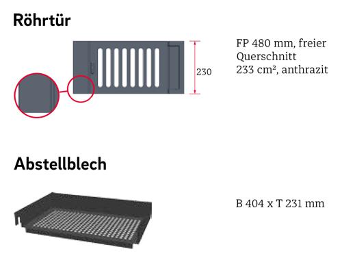 Zubehör Kachelofeneinsatz Schmid Format 9