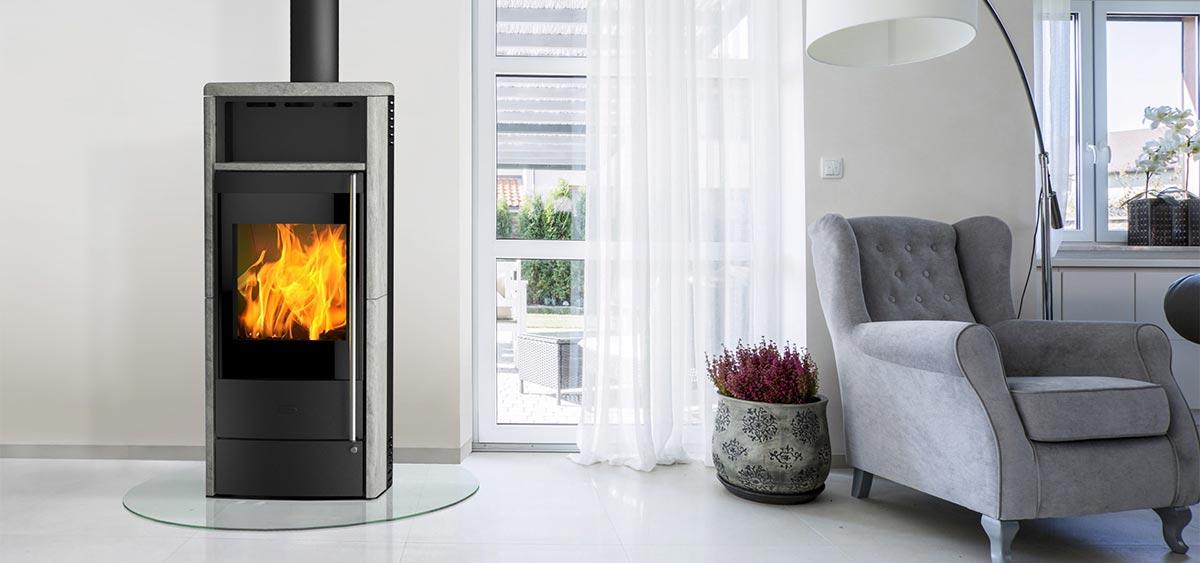Dauerbrandofen Fireplace Teramo RLU Montagebeispiel