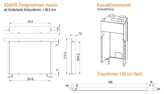 Kamineinsatz Austroflamm 80x64 S 2.0 Zubehör