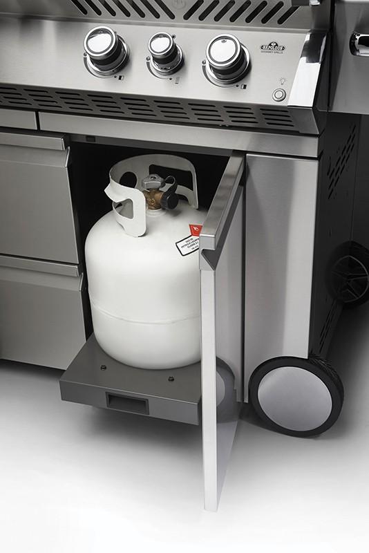 Stauraum für Gasflasche