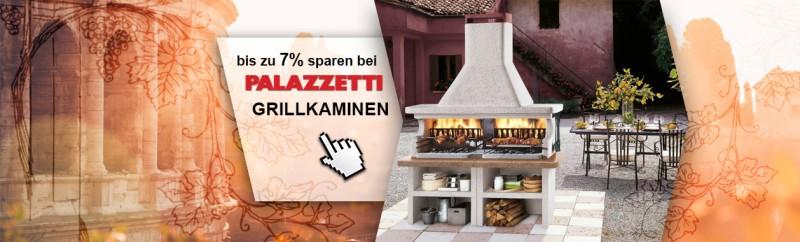 bis zu 7% auf alle Palazzetti Grillkamine sparen