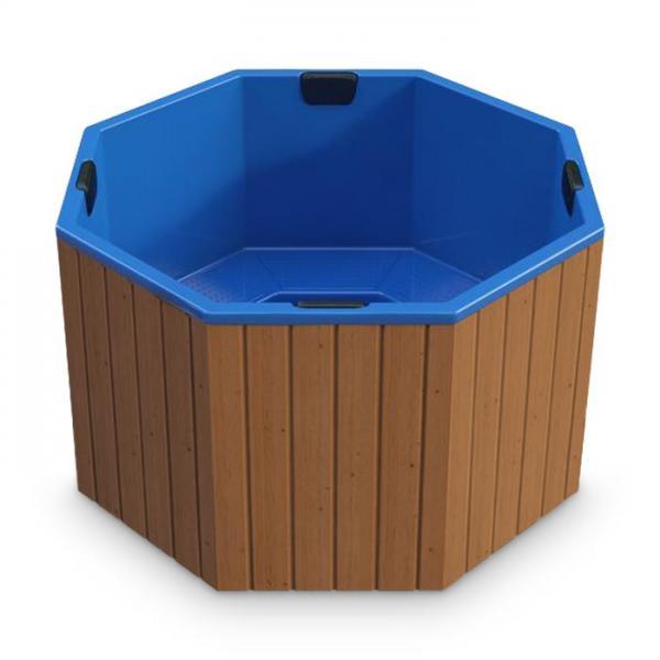 Hot Tub AA-Kaminwelt Badefass achteckig mit Kunststoffeinsatz ohne Ofen