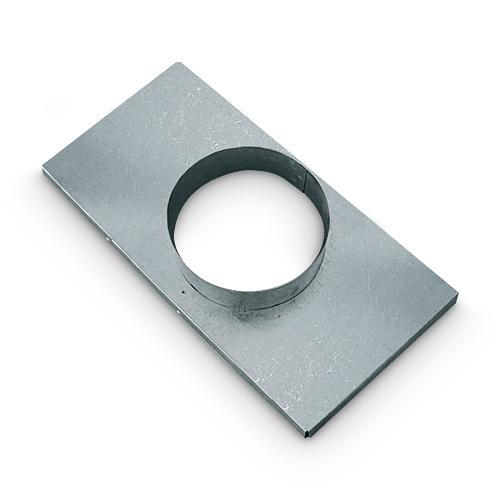 Stutzenblech für Warm Kalt und Außen Luftgitter 16x32 cm DN 120 mm