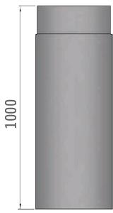 Ofenrohr 150 x 1000 mm Maße