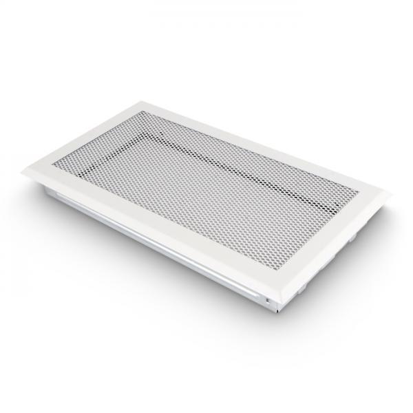 Kaltluftgitter 19x34 cm Kamin Lüftungsgitter Ofen Gitter Weiß