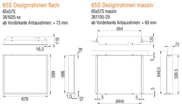 Kamineinsatz Austroflamm 65x57 S 2.0 Designrahmen