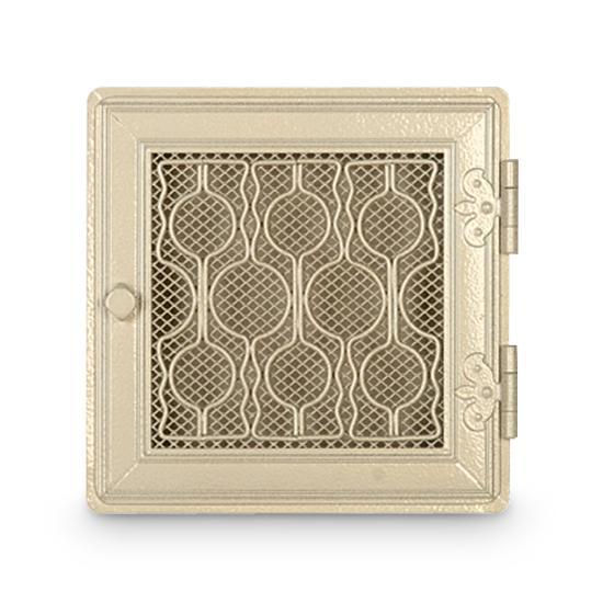 Stil Kamin Kaltluftgitter 24 x 24 cm Weiß Antik Ofen Gitter
