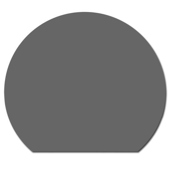 Stahl Bodenplatte Grau Kreisabschnitt Funkenschutz Platte Kamin Ofen