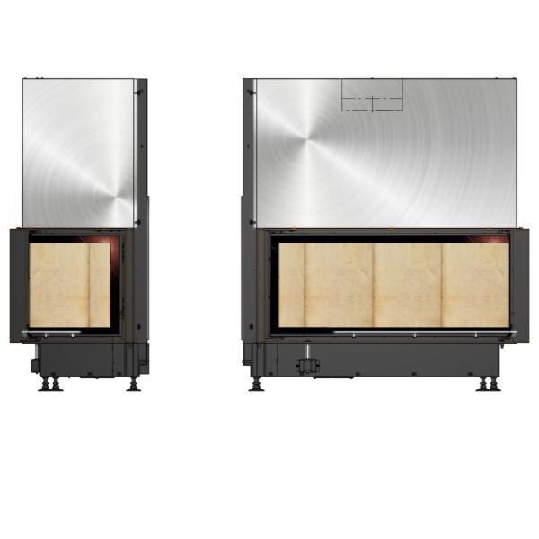 Kamineinsatz Brunner Architektur-Kamin Eck 45/101/40 Rechts 14,5 kW