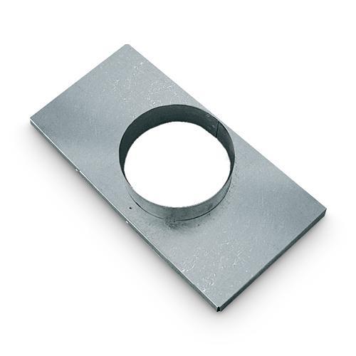 Stutzenblech für Warm Kalt und Außen Luftgitter 16x32 cm DN 100 mm