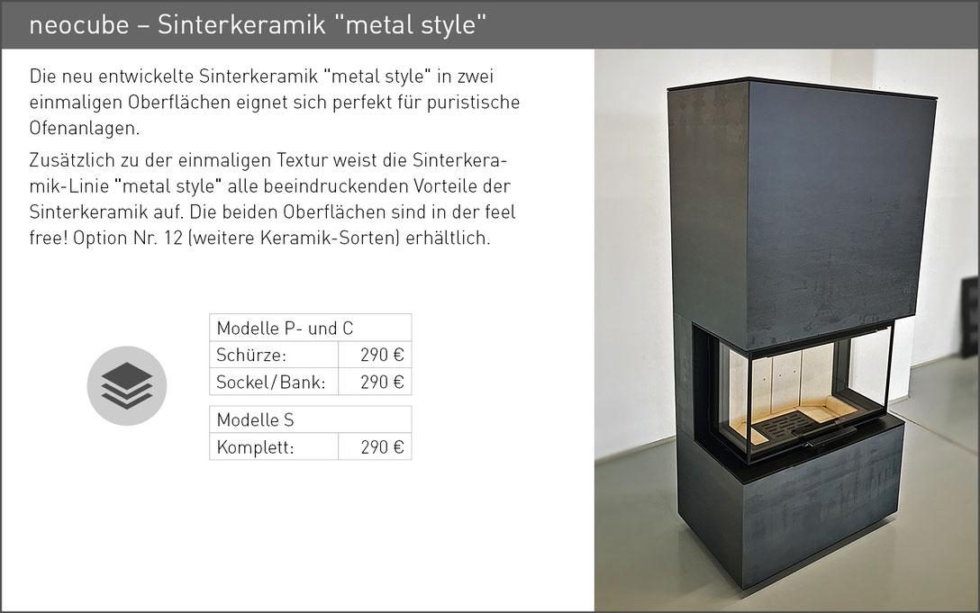 Sinterkeramik metal style