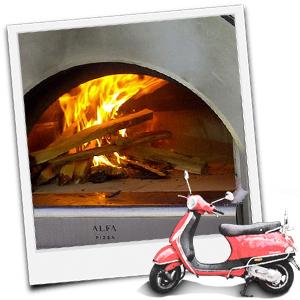 Blick in einen Alfa Forni Pizzaofen