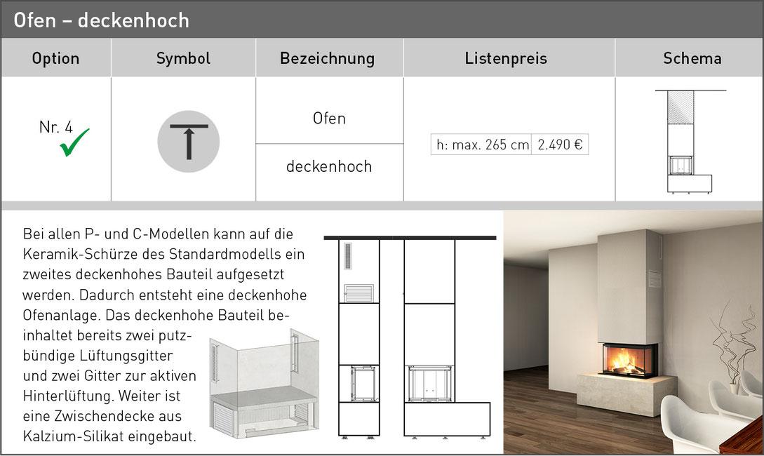 Ofenbank Deckenhoch