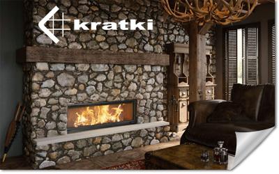 Kamineinsatz von Kratki in einem alten Kamin eingesetzt
