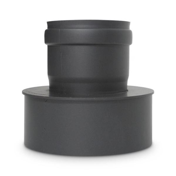 Pelletofenrohr Erweiterung DN 80 auf 130 mm Schwarz