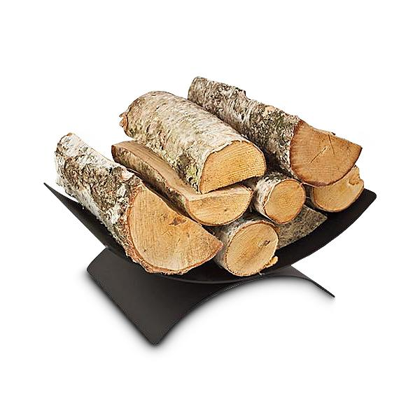 Brennholzkorb Kaminkorb 44x28 cm Schwarz