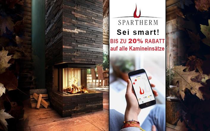 bis zu 20% auf alle Kamineinsätze von Spratherm sparen!