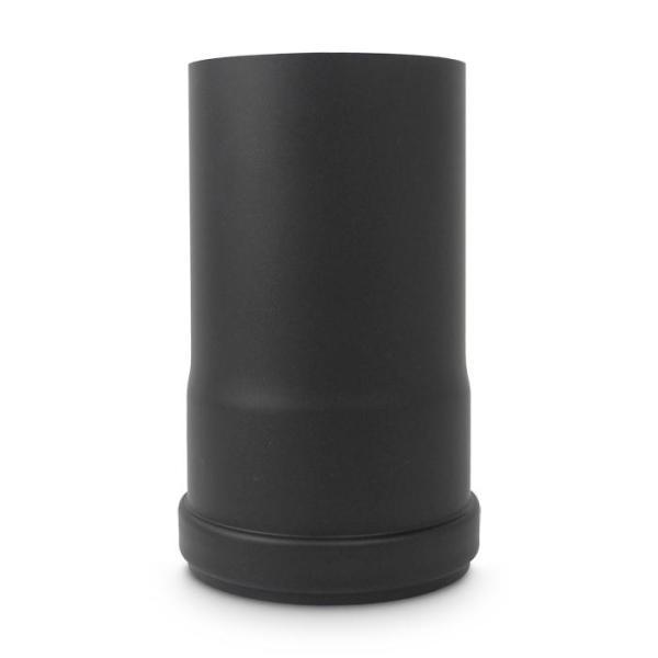 Pelletofenrohr DN 80 mm Länge 150 mm Schwarz