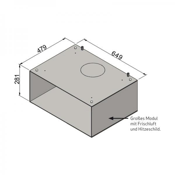 Scan 1003-B, großes Modul mit Loch für Frischluft