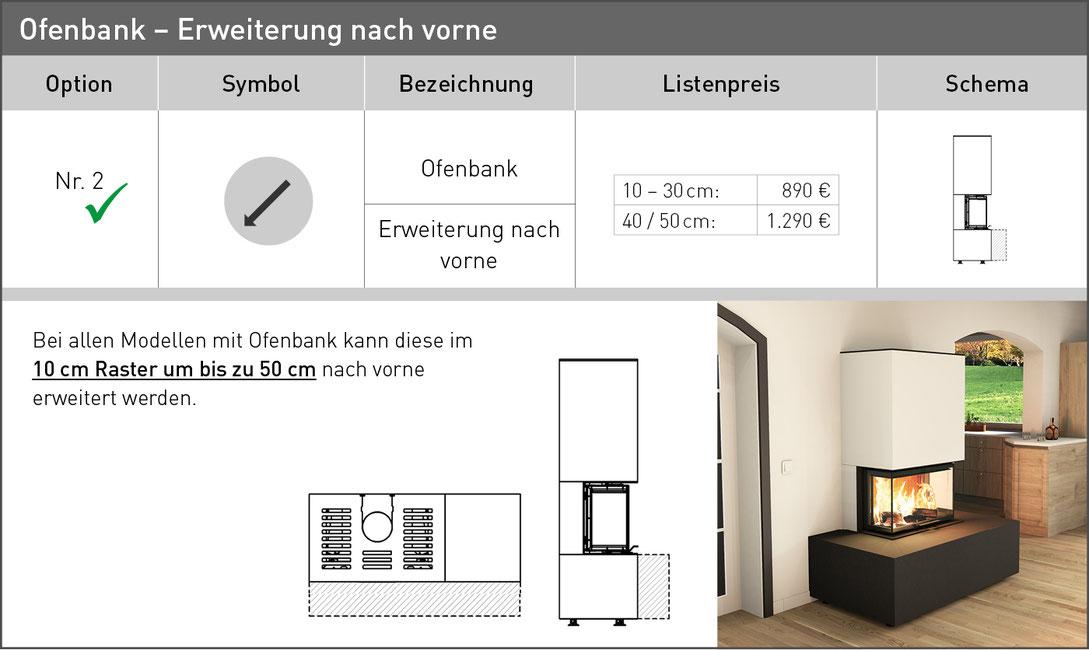 Ofenbank Erweiterung