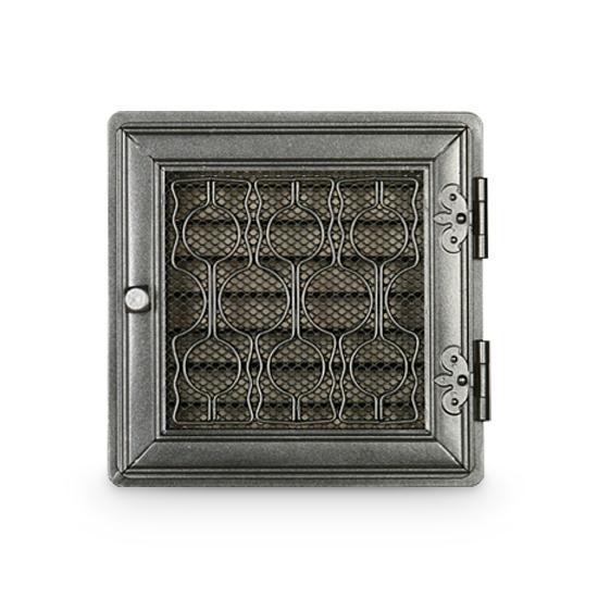Stil Kamin Warmluftgitter 24 x 24 cm Graphit Ofen Gitter