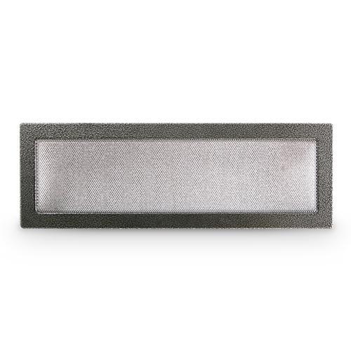 Kaltluftgitter Ofengitter 17 x 50 cm Silber Antik