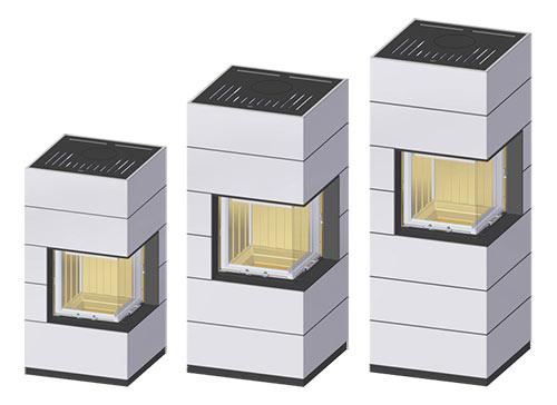 Kaminbausatz Spartherm SIM Mini 2RLh-4S Varianten