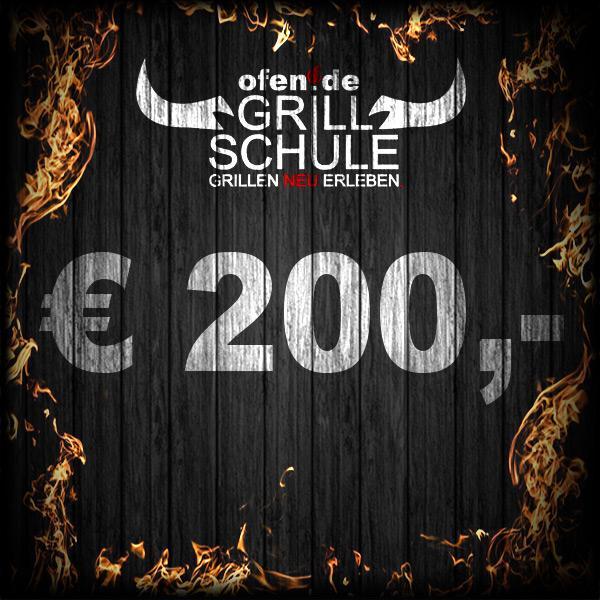 200 Euro Geschenkgutschein Grillschule