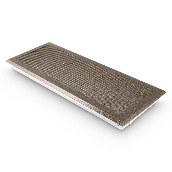 Kaltluftgitter 19x49 cm Kamin Lüftungsgitter Ofen Gitter Gold Antik